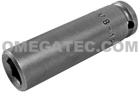 APEX MB-1210 5/16'' Long Impact Socket, Magnetic, 1/4'' Square Drive