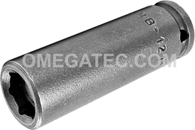 APEX MB-1211 11/32'' Long Impact Socket, Magnetic, 1/4'' Square Drive