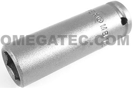 APEX MB-1212 3/8'' Long Impact Socket, Magnetic, 1/4'' Square Drive