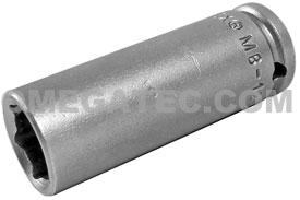 APEX MB-1214 7/16'' Long Impact Socket, Magnetic, 1/4'' Square Drive
