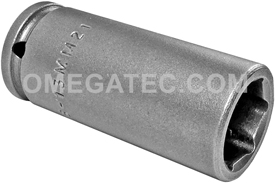 APEX MB-13MM21 13mm Long Impact Socket, Magnetic, 1/4'' Square Drive