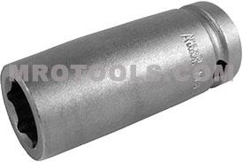 APEX MB-14MM25 14mm Long Impact Socket, Magnetic Bolt Clearance, 1/2'' Square Drive