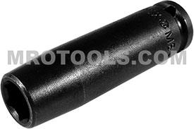 APEX MB-7MM21 7mm Long Impact Socket, Magnetic, 1/4'' Square Drive
