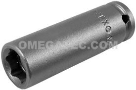 APEX MB-9MM21 9mm Long Impact Socket, Magnetic, 1/4'' Square Drive