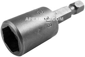 MDA-12 Apex 3/8'' Magnetic Nutsetter, For Sheet Metal Screws, 1/4'' Power Drive