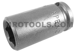 MZA-110 1/4'' Apex Brand Straight Grease Fitting Socket, Magnetic