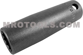 APEX OS-10MM23-D 10mm Extra Long Impact Socket, 3/8'' Square Drive