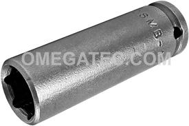 APEX OSMB-10MM21 10mm Long Impact Socket, Magnetic, 1/4'' Square Drive