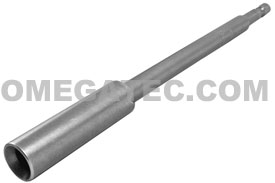 APEX R-328X Long Slotted Power Drive Bits, 1/4'' Hex Drive With Finder Sleeve
