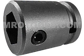 APEX SC-520 Bit Holder 5/8 to 1/2 Adapter With Set Screw Pin, 1/4'' Square Drive