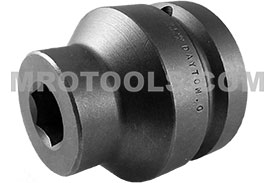 APEX SC-820 Bit Holder 5/8 to 1 Adapter With Set Screw Pin, 1/4'' Square Drive