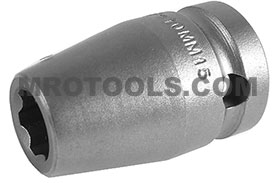 APEX SF-10MM15 10mm Standard Impact Socket, Surface Drive, 1/2'' Square Drive