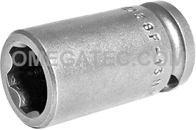 SF-13MM13 Apex 13mm Surface Drive Metric Standard Socket, 3/8'' Square Drive