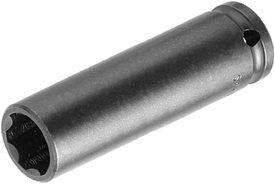 APEX SF-15MM55 15mm Extra Long Impact Socket, Surface Drive, Thin Wall, 1/2'' Square Drive