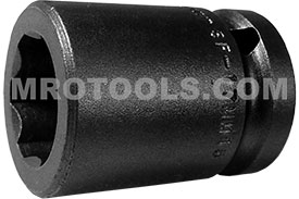 APEX SF-17MM15 17mm Standard Impact Socket, Surface Drive, 1/2'' Square Drive