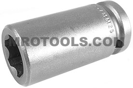 APEX SF-17MM25 17mm Long Impact Socket, Surface Drive, 1/2'' Square Drive