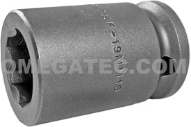 APEX SF-19MM16 19mm Standard Impact Socket, Surface Drive, 5/8'' Square Drive