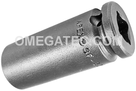 APEX SF-3216 1/2'' Long Impact Socket, Surface Drive, 3/8'' Square Drive