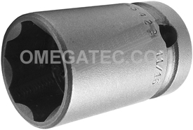 APEX SF-5422 11/16''Standard Impact Socket, Surface Drive, Thin Wall, 1/2'' Square Drive