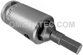 APEX SZ-13 7/32'' Socket Head Bits With Drive Adapters, 3/8'' Drive
