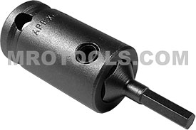 APEX SZ-3-7-4MM 4mm Socket Head Metric Bits With Drive Adapters, 3/8'' Drive