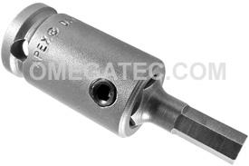 APEX SZ-3-7-6MM 6mm Socket Head Metric Bits With Drive Adapters, 3/8'' Drive