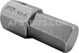 APEX SZ-31-A 1/2'' Socket Head Bits, 1/2'' Drive