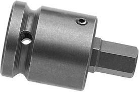 APEX SZ-43 9/16'' Socket Head Bits With Drive Adapters, 1/2'' Drive