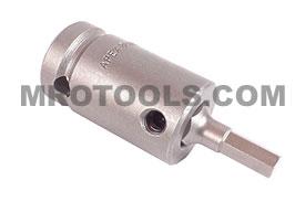 APEX SZ-5-7-6MM 6mm Socket Head Metric Bits With Drive Adapters, 1/2'' Drive