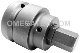 SZ-8-14-19MM 1'' Apex Brand Socket Head (Hex-Allen) Bits With Drive Adapters, Metric