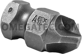APEX TW-9 #9 Tri-Wing Power Drive Bits, 5/8'' Hex Drive