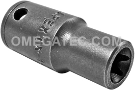 TX-1407 Apex E-7 Thin Wall Torx Socket, For External Screws, 1/4'' Square Drive