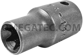TX-1408 Apex E-8 Thin Wall Torx Socket, For External Screws, 1/4'' Square Drive