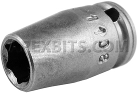 X-1108 Apex 1/4'' X-Hard Standard Socket, 1/4'' Square Drive