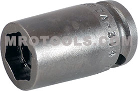 ZA-314 3/8'' Apex Brand Straight Grease Fitting Socket