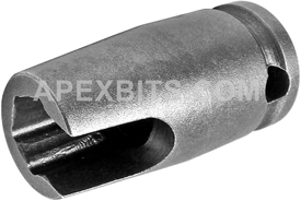 ZN-312 3/8'' Apex Brand Angled Grease Fitting Socket