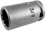 1112-D Apex 3/8'' 12-Point Standard Socket, 1/4'' Square Drive