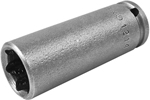 1214 Apex 7/16'' Long Socket, 1/4'' Square Drive