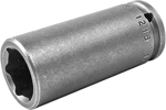 1216 Apex 1/2'' Long Socket, 1/4'' Square Drive