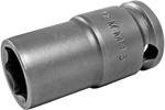 APEX 12MM43 12mm Standard Impact Socket, Thin Wall, 3/8'' Square Drive