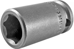 APEX 13MM13 13mm Short Impact Socket, 3/8'' Square Drive