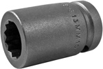 13MM15-D Apex 13mm 12-Point Metric Standard Socket, 1/2'' Square Drive