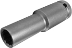 APEX 13MM55-D 13mm Extra Long Impact Socket, Thin Wall, 1/2'' Square Drive