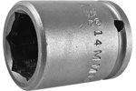 APEX 14MM11 14mm Standard Impact Socket, 1/4'' Square Drive