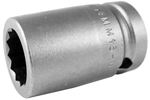 14MM15-D Apex 14mm 12-Point Metric Standard Socket, 1/2'' Square Drive