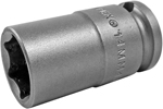 APEX 14MM43 14mm Standard Impact Socket, Thin Wall, 3/8'' Square Drive