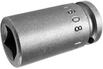 1608 Apex 1/4'' Single Square Nut Standard Socket, 1/4'' Square Drive