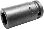 1608-D Apex 1/4'' Double Square Nut Standard Socket, 1/4'' Square Drive
