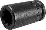 APEX 1609-D 9/32'' Double Square Nut Socket, 1/4'' Square Drive