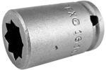 1610-D Apex 5/16'' Double Square Nut Standard Socket, 1/4'' Square Drive